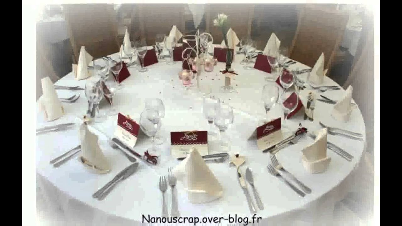 Mariage d co table youtube - Deco table noel rouge et blanc ...
