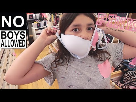 BRA SHOPPING for the FIRST TIME! TWEEN Shopping Vlog at PINK! **Boys Don't Watch**