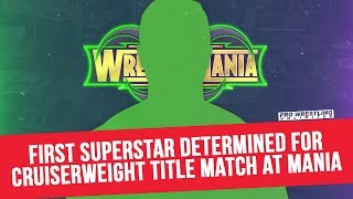 First Superstar Determined For Cruiserweight Title Match At WrestleMania