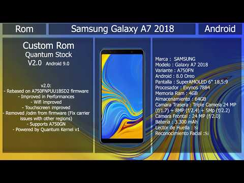 Rom Quantum V2 - Android 9 0 - Samsung Galaxy A7 2018 - YouTube