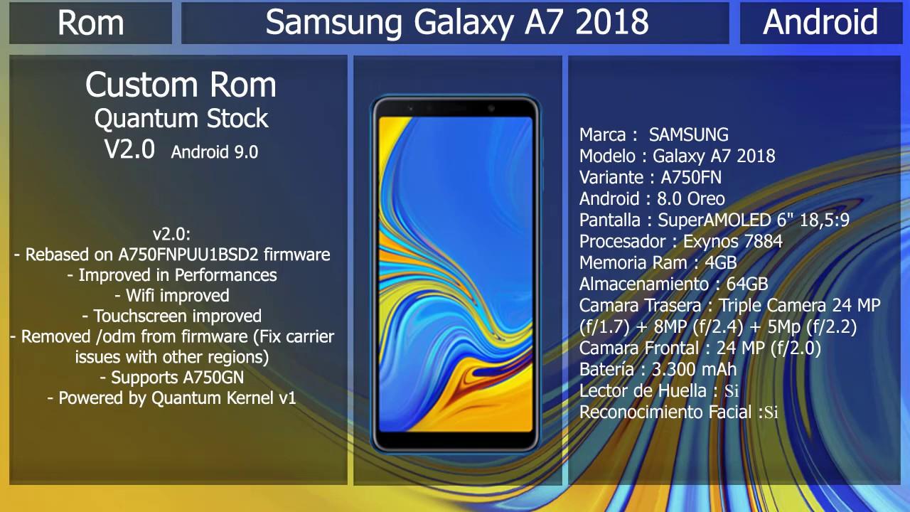 Rom Quantum V2 - Android 9 0 - Samsung Galaxy A7 2018