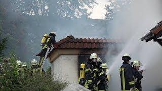 Garagenbrand in Hohenlimburg – Feuerwehr im Einsatz