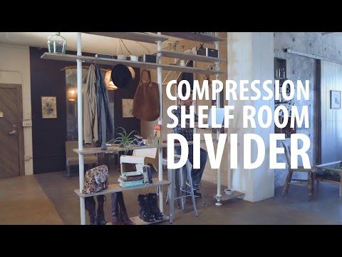 Compression Shelf Room Divider