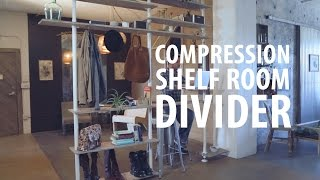 Compression Shelf Room Divider
