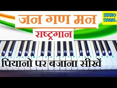 Jana Gana Mana (National Anthem) Easy and Slow Piano Tutorial With Notes