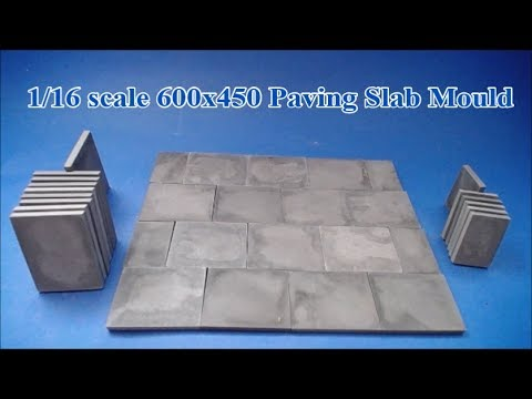 1/16 Scale 600x450 Paving Slabs (Mould Review)