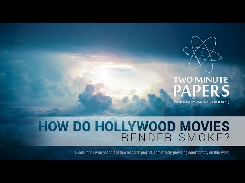 How Do Hollywood Movies Render Smoke? | Two Minute Papers #127