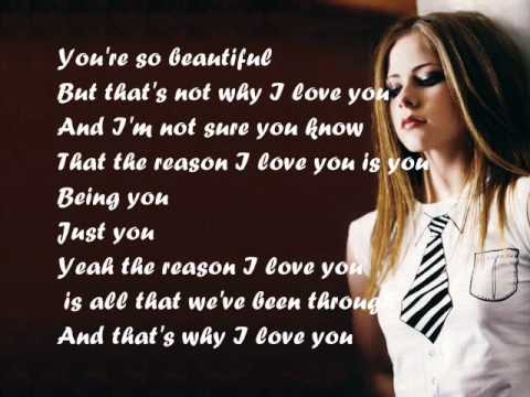 Image result for avril lavigne i love you lyrics