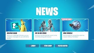 FORTNITE NEW BALLER DLC UPDATE PLUS TIER 100 UNLOCK SHOWCASE AVAILABLE NOW & NEW SKIN CUSTOMIZATION
