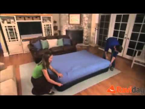 matelas autogonflant 2 personnes intex raised pillow youtube. Black Bedroom Furniture Sets. Home Design Ideas