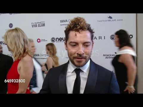 David Bisbal ENTREVISTA - Elton John AIDS Foundation 25th Anniversary Oscar Party