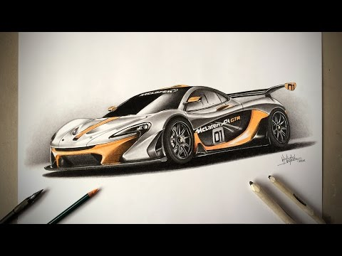 McLaren P1 GTR  SPEED DRAWING by DRAWING MASTER