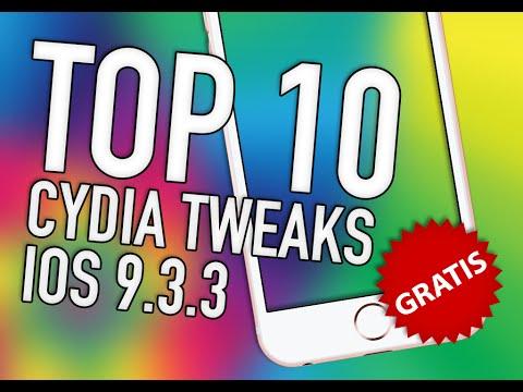 TOP 10 CYDIA TWEAKS GRATIS iOS 9.3.3 - 9.2