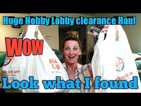 Hobby Lobby CLEARANCE Haul/Retail $580 Pd $60 AMAZING