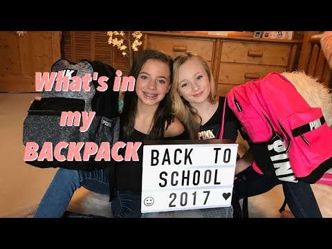 Whats In My Backpack 2017 Back To School With Princess Ella & CC