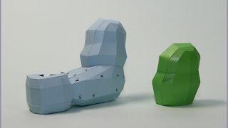 How to make Lego Hulk Papercraft - 1. Arm #1/2