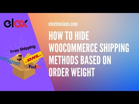 How to Hide WooCommerce Shipping Methods based on Order Weight thumbnail