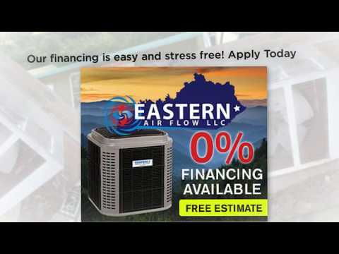 Finance your new heating and cooling system with Eastern Air Flow LLC