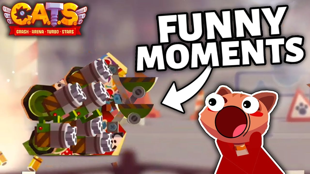 C A T S FUNNY MOMENTS COMPILATION - Best Battles in Crash Arena Turbo Stars