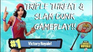 *NEW* TRIPLE THREAT & SLAM DUNK GAMEPLAY / GETTING DEM DUBS (Fortnite Battle Royale)