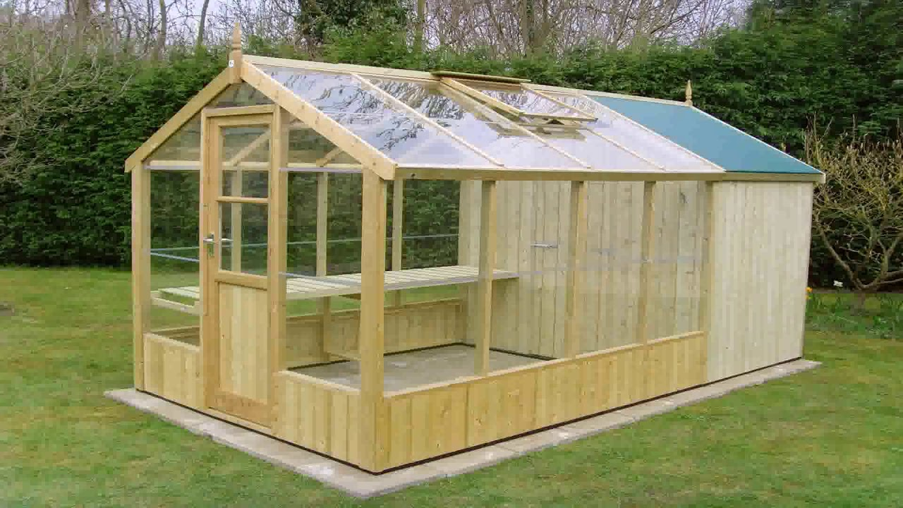 Small Wood Frame Greenhouse Plans (see description) - YouTube