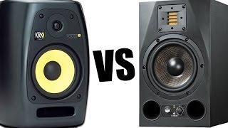 adam a7x vs krk vxt8 тест звука обзор студийных мониторов отзывы