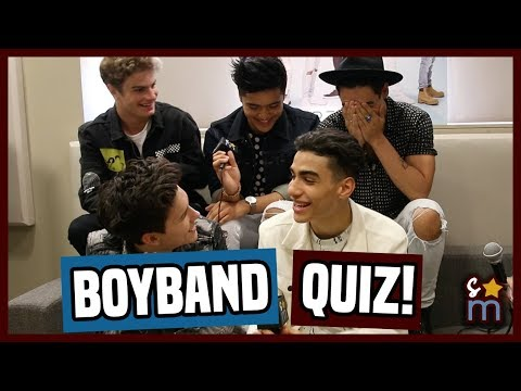 IN REAL LIFE Test Their Boyband Knowledge - Boyband Quiz Interview