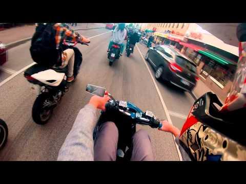 Aerox wheelies   Season 2014