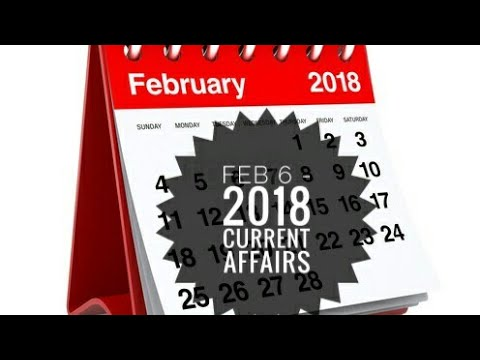 Feb 6 - 2018 Current Affairs - nepTune