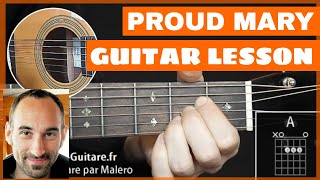 Proud Mary Guitar Lesson - part 1 of 3
