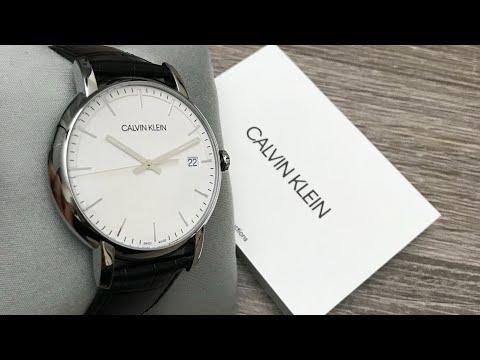Calvin Klein Established Quartz Silver Dial Men's Watch K9H211C6 Review (Unboxing)