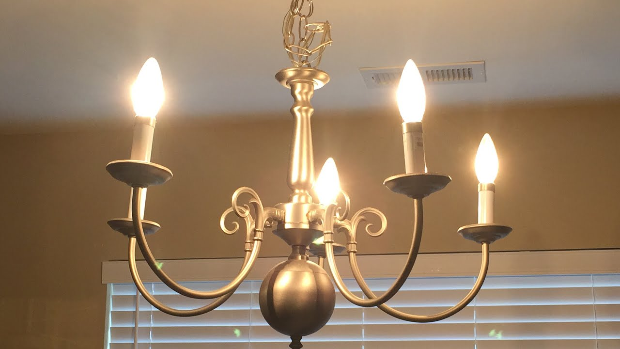 Diy chandelier makeover renter friendly youtube diy chandelier makeover renter friendly aloadofball Image collections