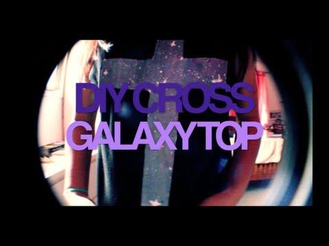 DIY Cross Galaxy Top | Goldie Emeralda