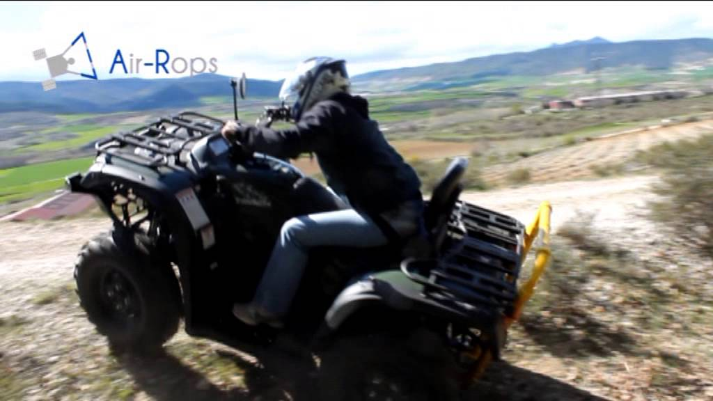 Air Rops Cpd Fitted In Agricultural Quad Bike English Youtube