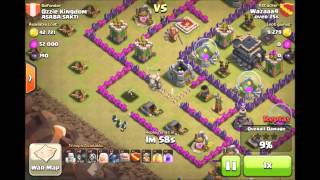 COC TH8 WAR ATTACKS HOGS & DRAGS + GOWIPE!