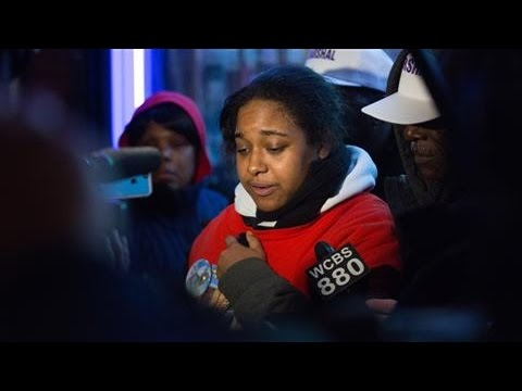 Eric Garner's Daughter Erica Speaks During Protest