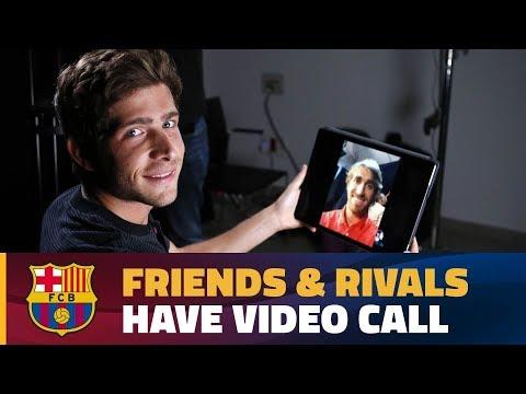 FRIENDLY CHAT | Sergi Roberto & Marc Muniesa ahead of Girona FC - FC Barcelona