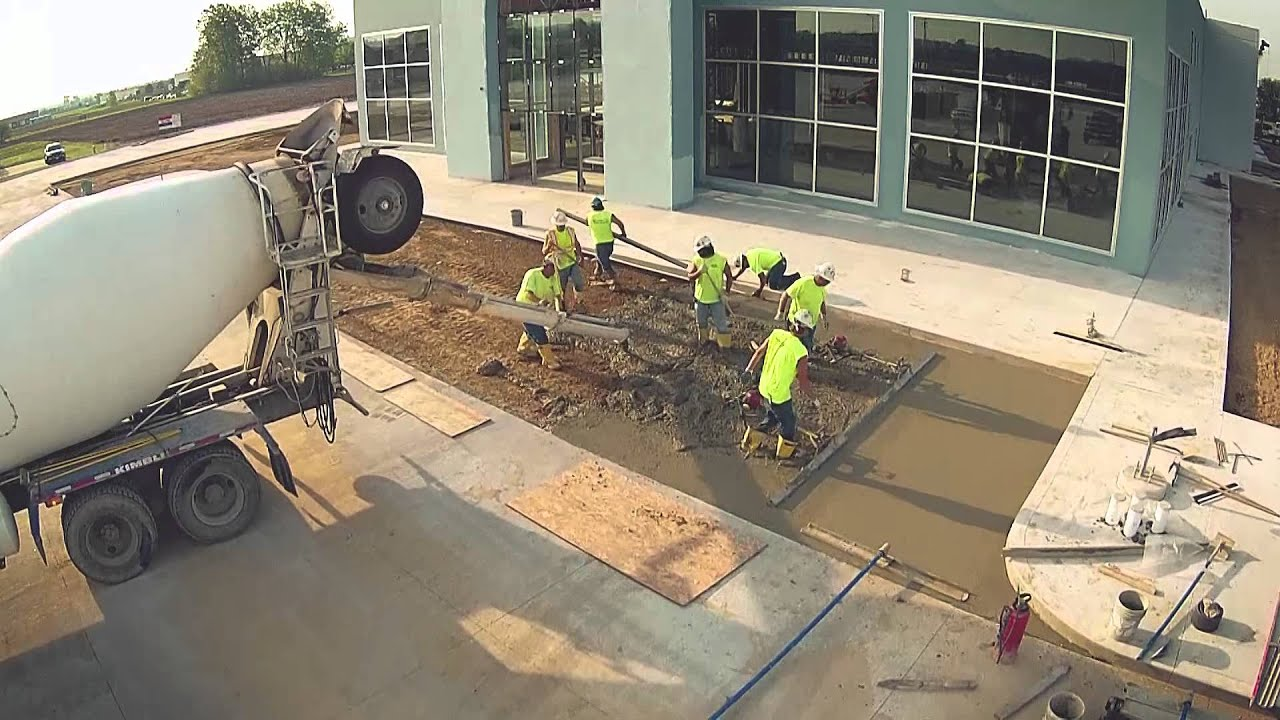 New Building Construction Sam Leman Morton Pouring Concrete