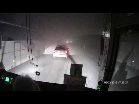 Reykjavik Iceland bus ride in snow storm 11.15.16