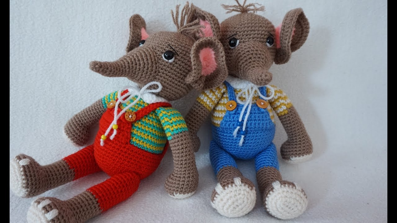 Crochet Pacifier Leash Holder elephant #TUTORIAL (i have written ... | 720x1280