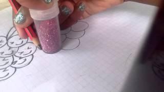 Cómo dibujar uvas kawaii
