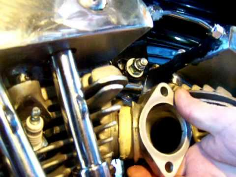 Classic Harley Restorations: How to install Harley Davidson Shovelhead  intake manifold avi
