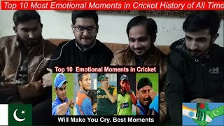 Pakistani Reaction On Top 10 Most Emotional Moments in Cricket History of All Time | Cricket |