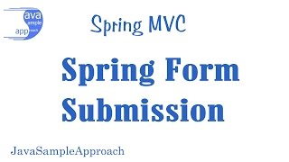 spring web mvc spring form submission spring boot