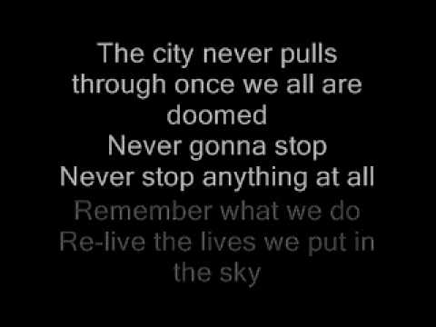 A Skylit Drive - City On The Edge Of Forever (Lyrics On Screen)