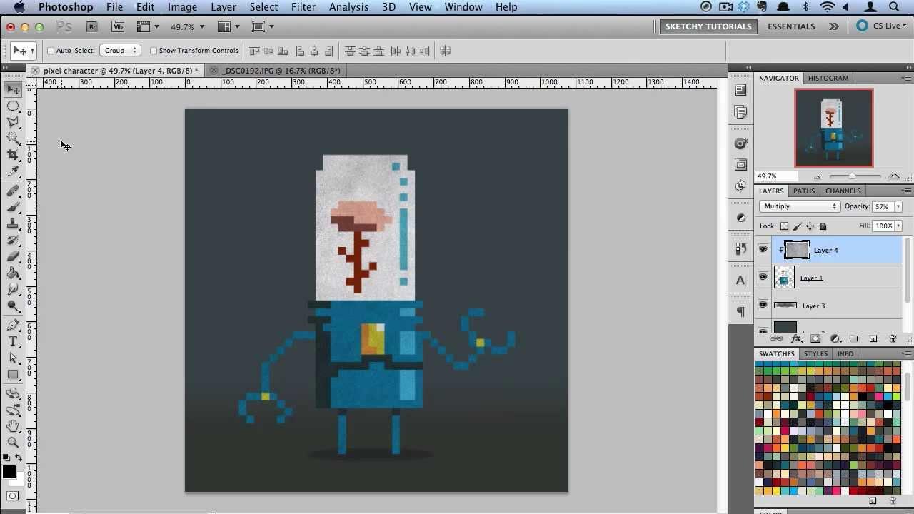 Art pixel in photoshop