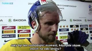 Alexander Edler po semifinále Švédsko - Finsko 4:1