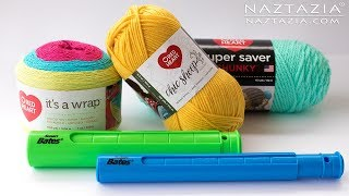 Video Review of New Red Heart Yarn and Susan Bates Stitch Holder - by Naztazia download MP3, 3GP, MP4, WEBM, AVI, FLV Juli 2018