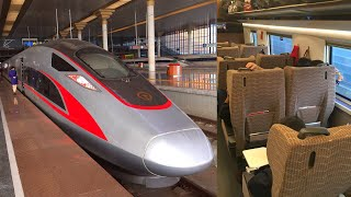 350km/h fast Fuxing High Speed Train G6 Shanghai - Beijing in First Class