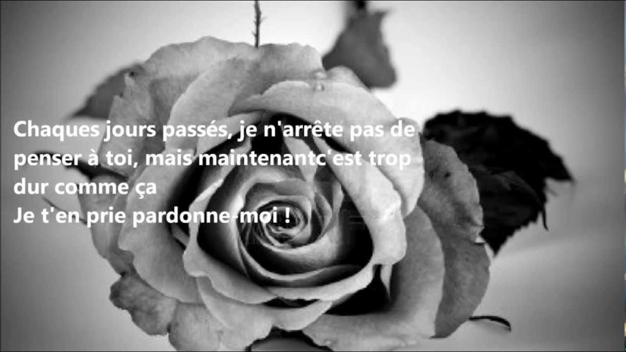 Chanson Damour Triste Pardonne Moi